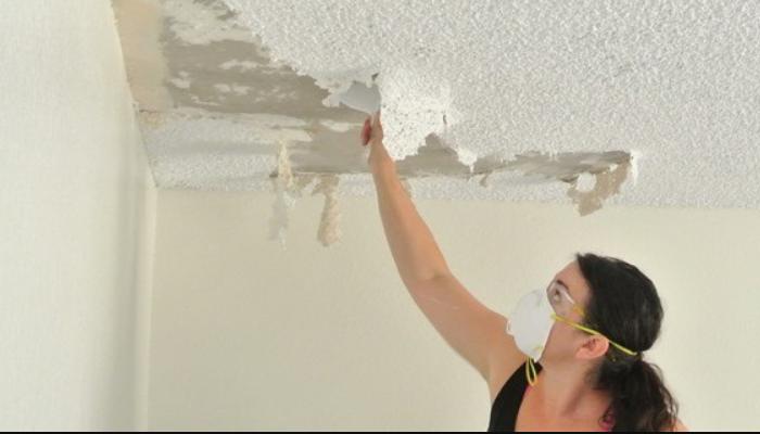 cómo quitar gotelé del techo