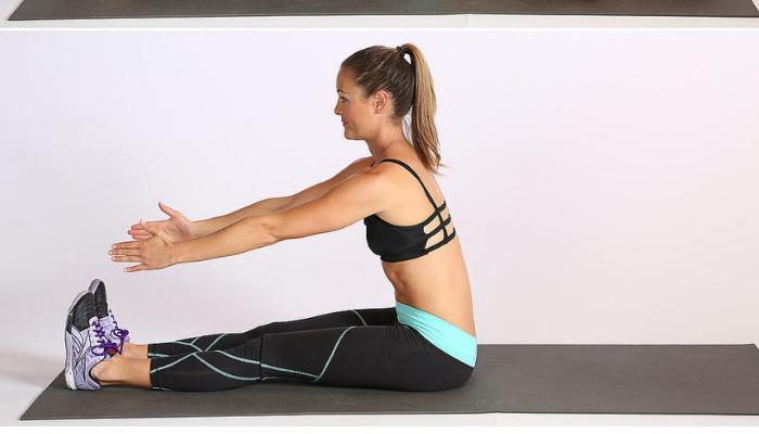 Tercer ejercicio, Impulso: Sentado en el suelo