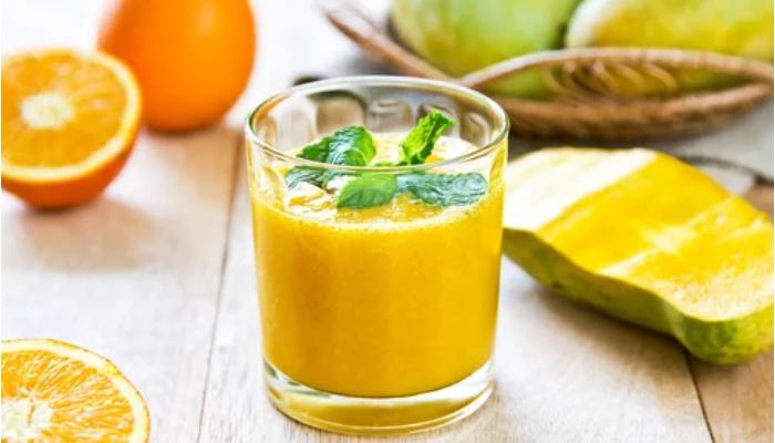 Jugo de Naranja, Melón y Mango