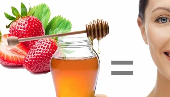 quitar manchas en la cara con fresa, miel y limón