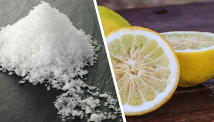 quitar las manchas de vino con sal y limón