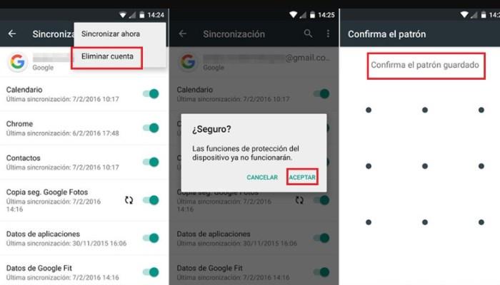 cómo eliminar una cuenta de Google